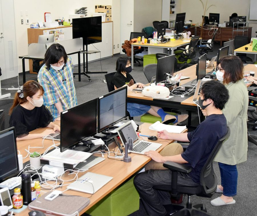 AI活用に不可欠な学習データの作成などを手掛けるネクストリーマー高知本社(南国市蛍が丘1丁目)