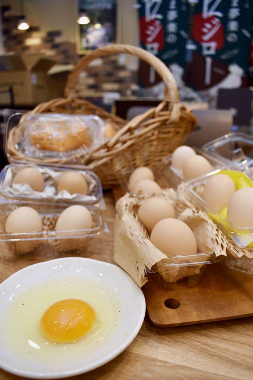 高知県内の土佐ジロー生産者の卵食べ比べセット(安芸市久世町の「畑山ジローの店」)