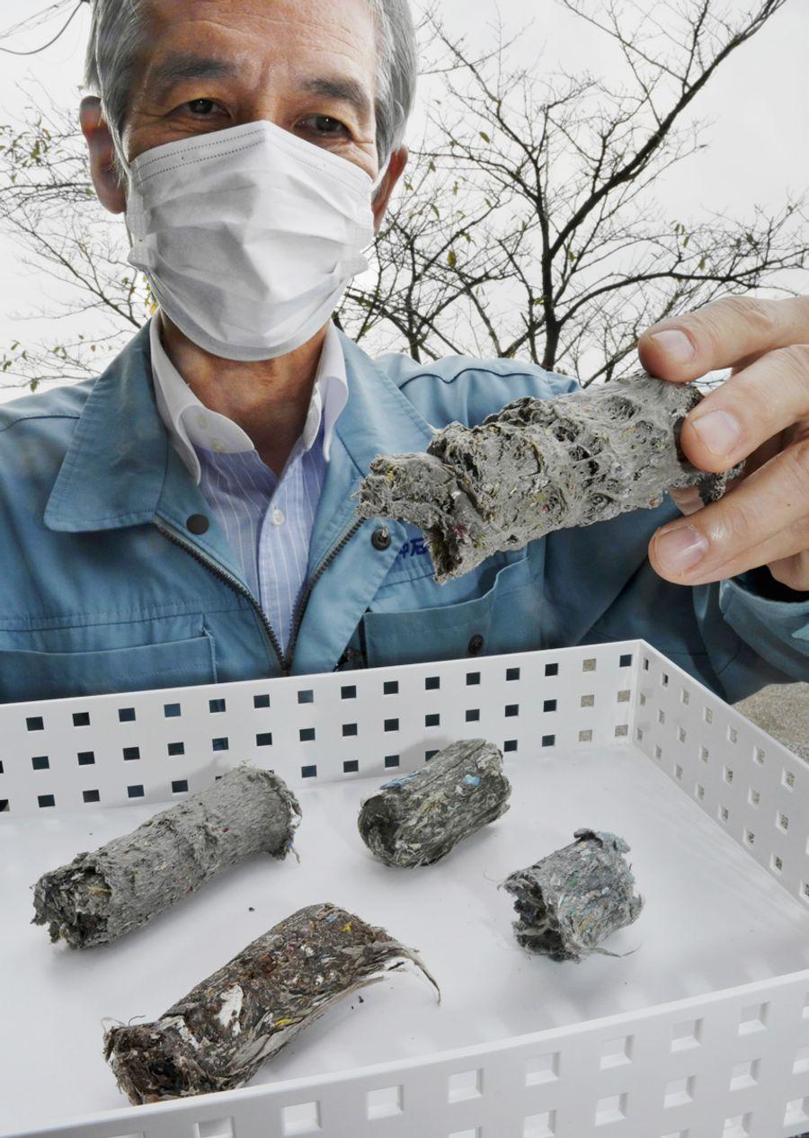 田中石灰工業の廃プラスチック燃料。SDGsの高まりとともに売り上げが伸びている (高知市五台山)